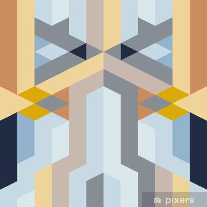 Naklejka Pixerstick Streszczenie geometryczny wzór retro - Zasoby graficzne