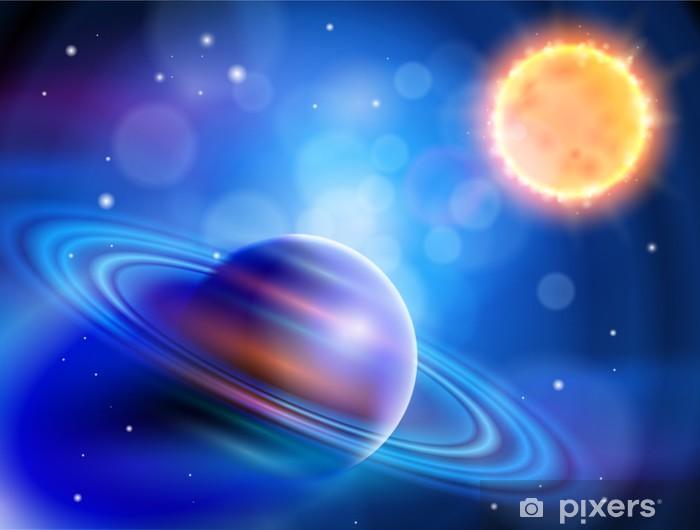 Papier peint vinyle Espace magique - planètes, les étoiles et les constellations - Planètes
