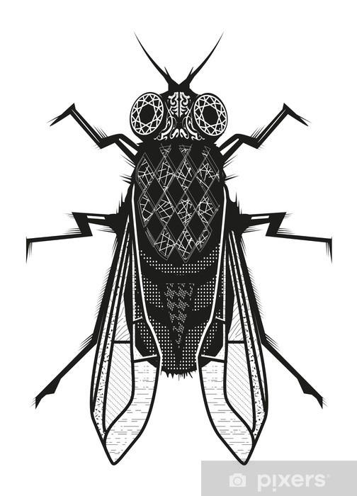 Papier peint vinyle Fliege - Animaux
