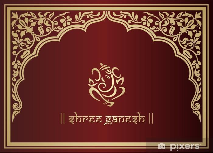 Naklejka Pixerstick Ganeśa, hindu wedding card, królewski Rajasthan, Indie - Świętowanie
