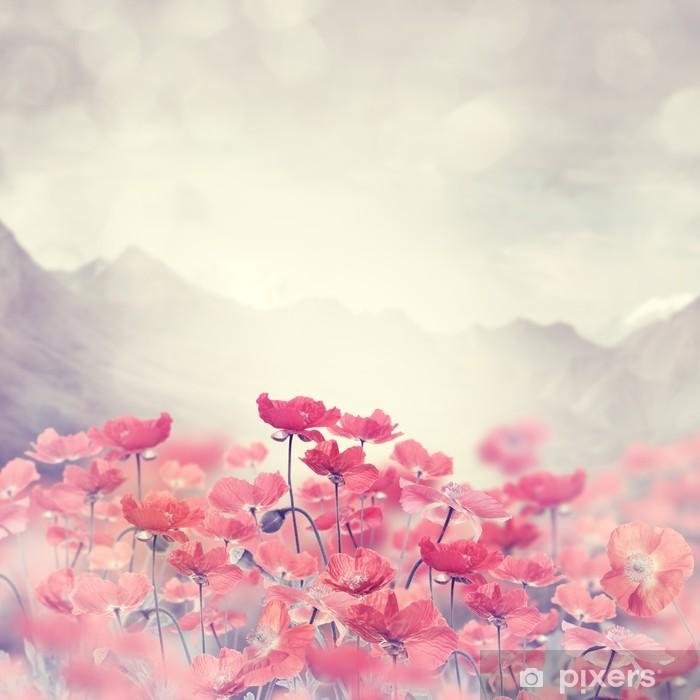 Vinilo Pixerstick Flores de amapola - Flores