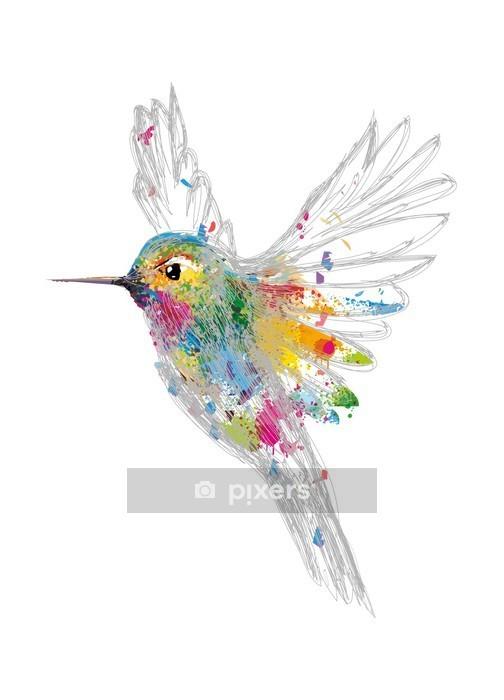 Muursticker Kolibrie - Wetenschap en natuur