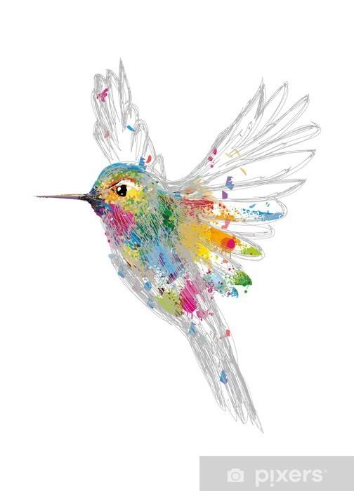 Pixerstick Sticker Kolibrie - Wetenschap en natuur