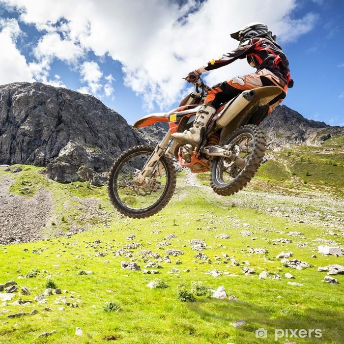 Fototapeta winylowa Motocross na zewnątrz - Sporty ekstremalne