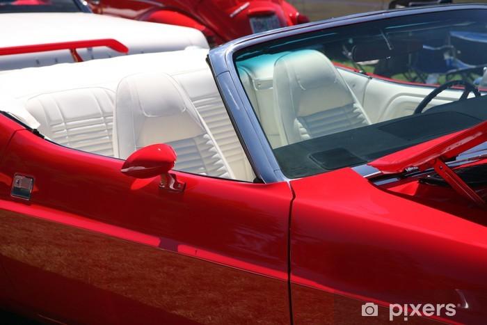 Nálepka Pixerstick Vintaqe červené sportovní auto - Na cestě