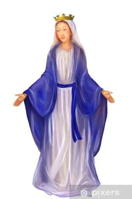 Blessed Virgin Mary Queen Vinyl Wall Mural - Culture and Religion