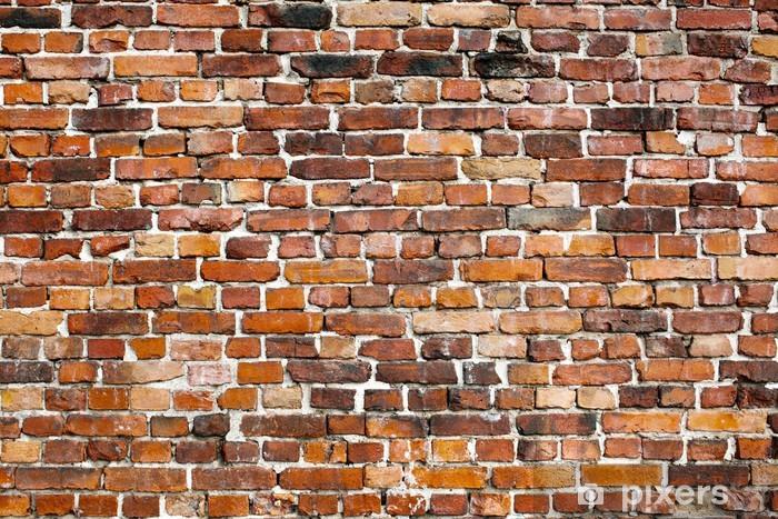Fotomural Estándar Antiguo fondo de pared de ladrillo - iStaging