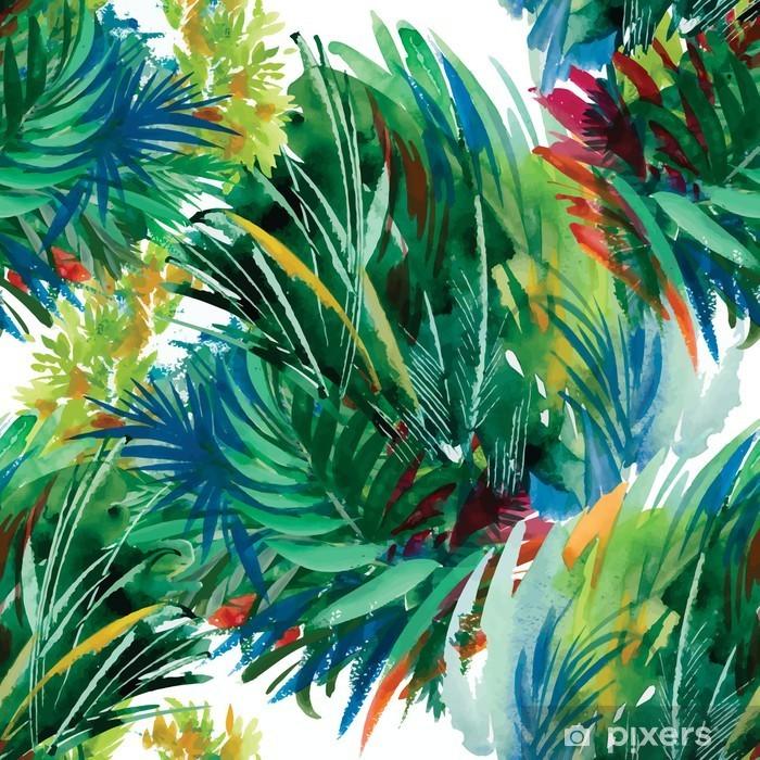 Vinyl Fotobehang Watercolor naadloze patroon met gras. Hand schilderij. - Vrije tijd