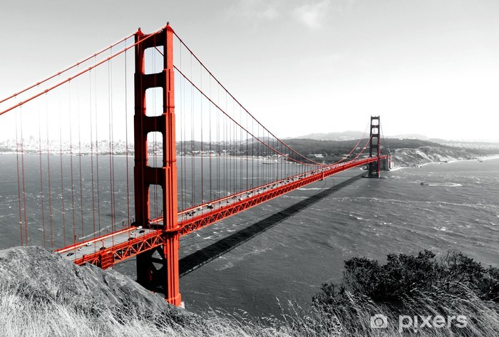 Golden Gate Bridge Pixerstick Sticker - iStaging