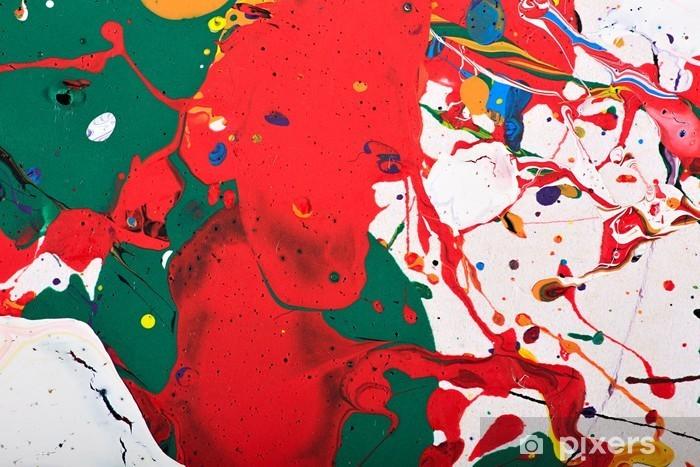 Pixerstick Sticker Abstract levendig schilderij - Grafische Bronnen