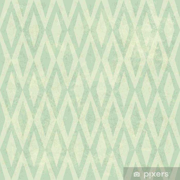Seamless Vintage Rhombus Pattern. With Grunge Textured Backgroun Pixerstick Sticker - Graphic Resources