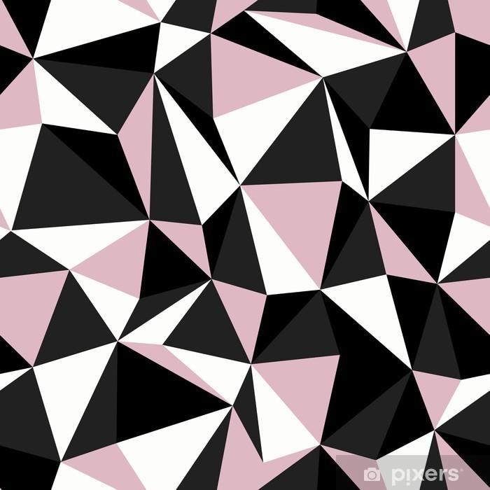 Papier Peint Couleurs Noir Et Rose Triangle Motif Continu Pixers