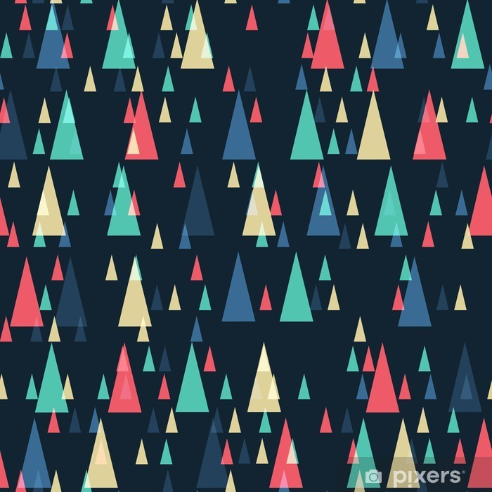 Naklejka Pixerstick Geometryczny wzór retro bezszwowe trójkąty - Canvas Prints Sold