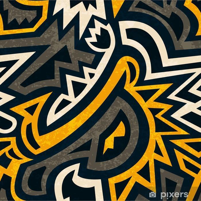 Poster Africain motif géométrique parfaite avec effet grunge - Textures
