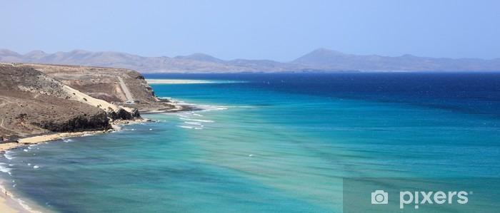 Vinilo Pixerstick Costa Salvaje de l'île de fuerteventura - Paisajes