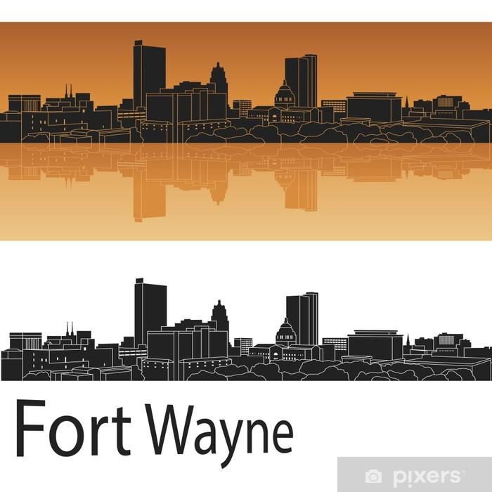 Fototapeta winylowa Fort Wayne skyline - Pejzaż miejski