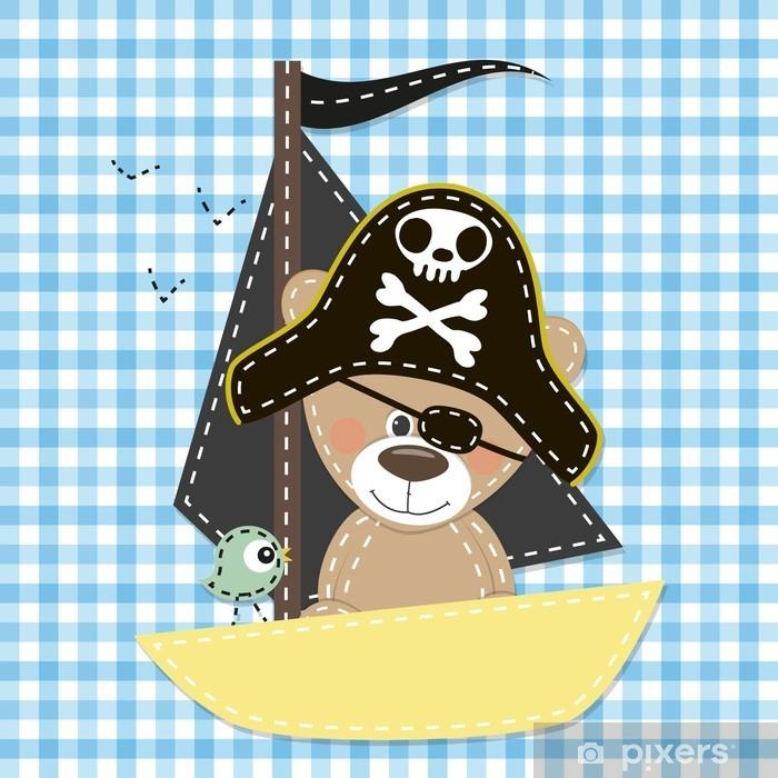 Naklejka Pixerstick Pirat - Zwierzęta
