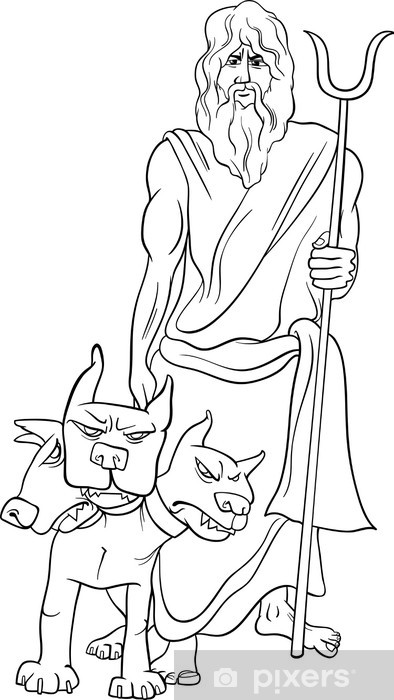 Aufkleber Griechischer Gott Hades Malvorlagen Pixerstick