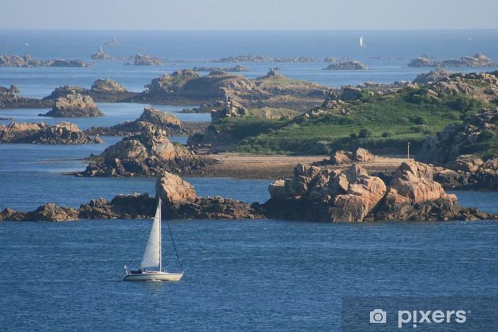 Papier peint vinyle Bretagne, bretagne, bzh, mer, cote, voile - Nature et régions sauvages