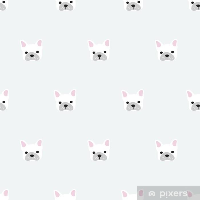 Fotomural Autoadhesivo Patrón de bulldog francés sin fisuras - Recursos gráficos