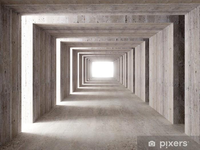 Sticker Pixerstick Tunnel en béton et les lumières latérales - Styles