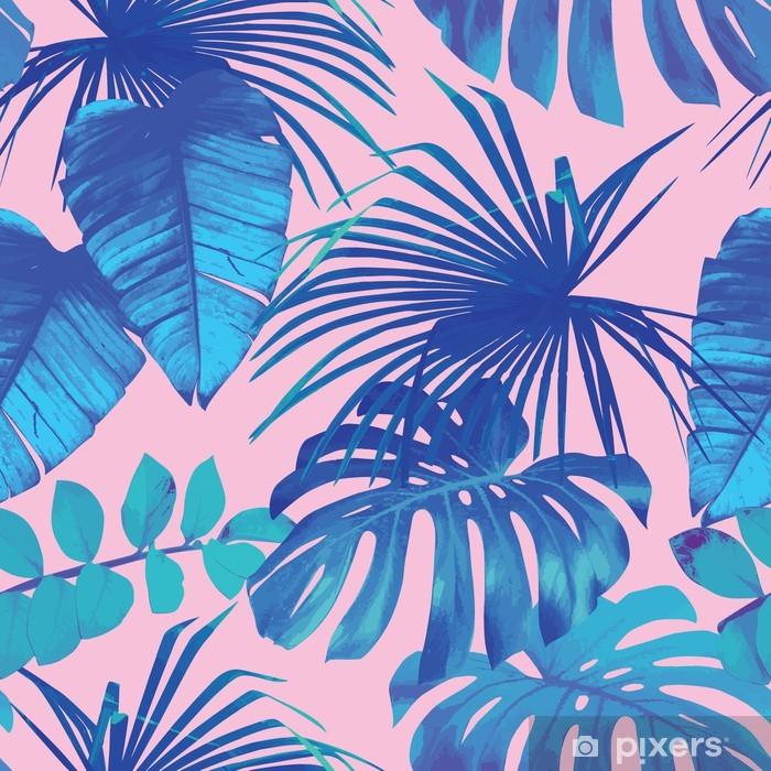 Fototapeta winylowa Tropikalnych liści bezszwowe tło - Do restauracji