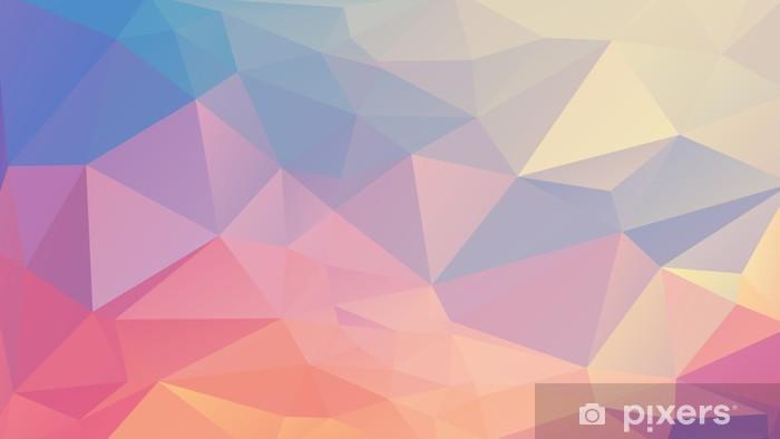 Deursticker Kleurrijke veelhoek - Grafische Bronnen