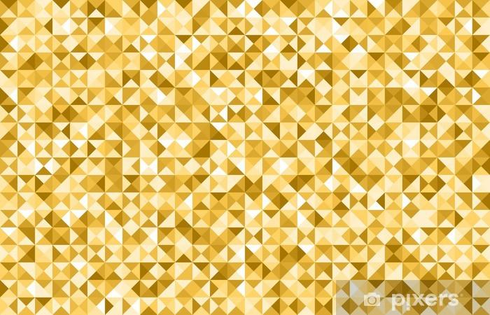Sticker Pixerstick Triangle d'or fond - Arrière plans