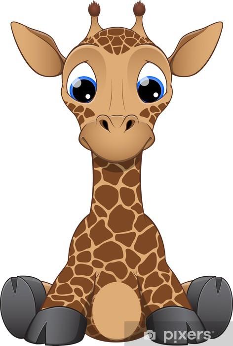 Fototapeta winylowa Funny mała żyrafa - Ssaki