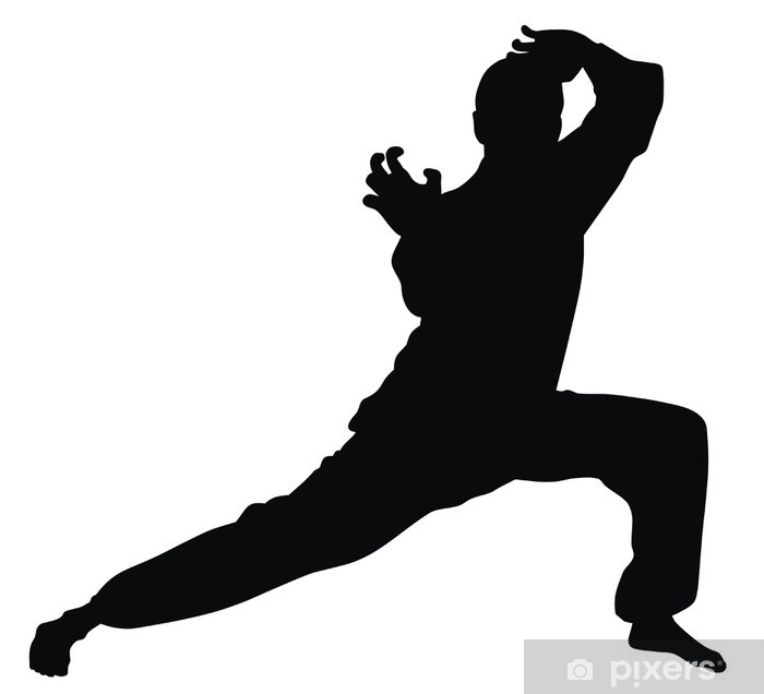 Martial art Pixerstick Sticker - Individual Sports