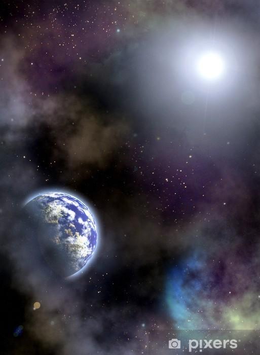 Naklejka Pixerstick Scenariusz miejsca - Wszechświat