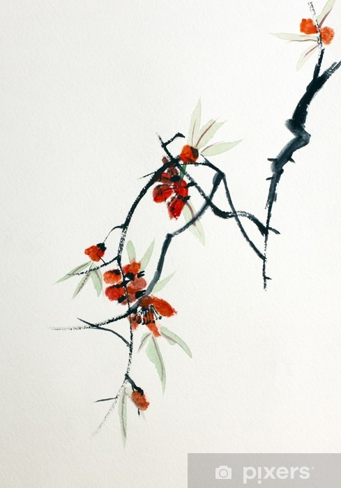 Sticker Pixerstick Floraison de Sakura - Passe-temps et loisirs