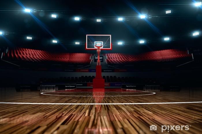 Papier peint vinyle Terrain de basketball. arène de sport. - Sports collectifs