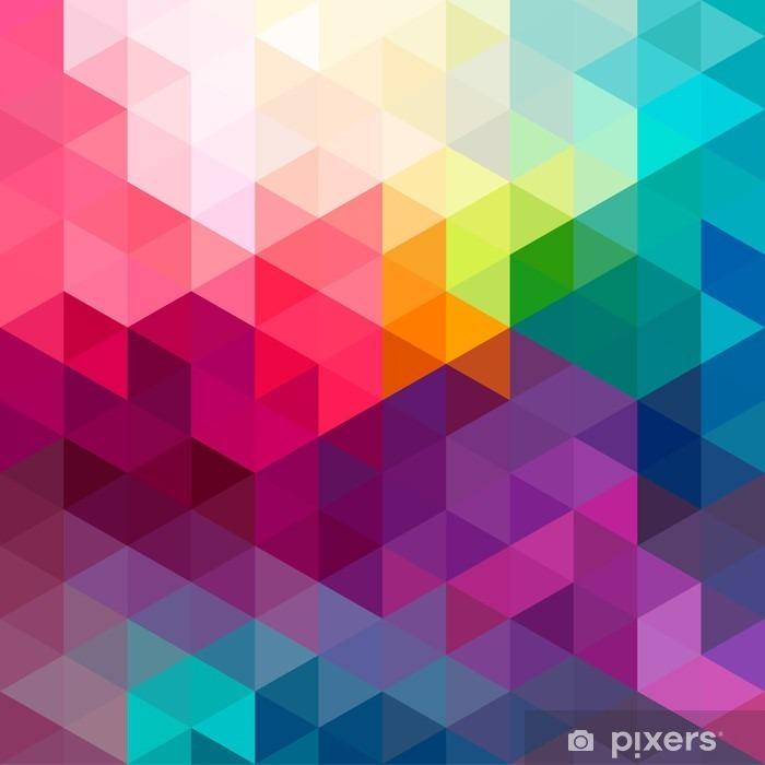 Abstrakti värikäs saumaton kuvio tausta Ikkuna- ja lasitarra - Graafiset Resurssit