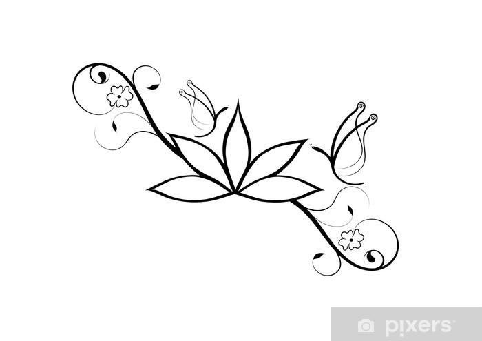 Tattoo Fiore Di Loto E Farfalle Sticker Pixers We Live To Change