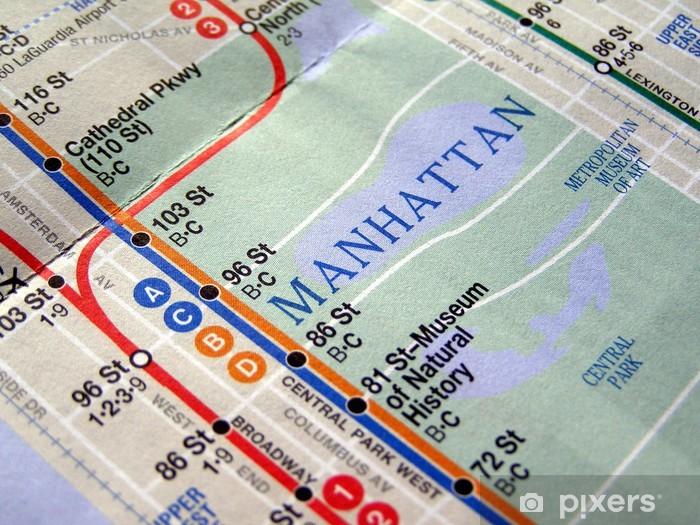 Fototapete New york subway map