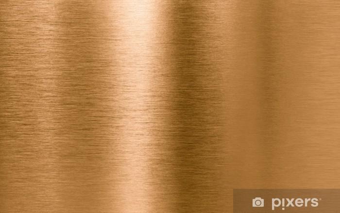 Bronze or copper metal texture background Vinyl Wall Mural - Textures