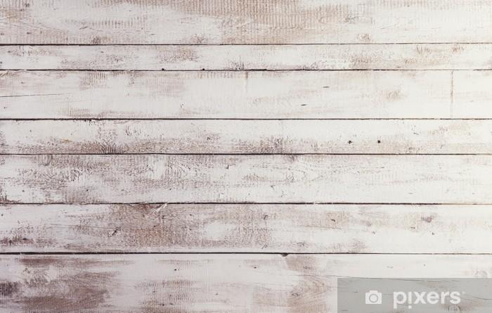 Fotomural Autoadhesivo Tablas de madera de color blanco con textura de fondo - Temas