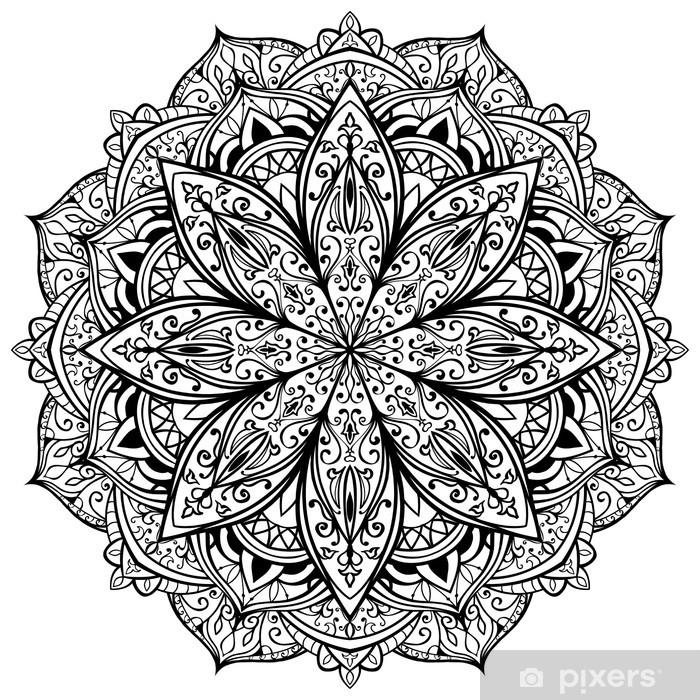 vector, graceful, black mandala Pixerstick Sticker - Wall decals