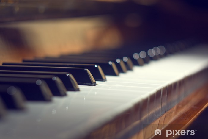 Seçici Odaklanma Ile Piyano Klavyesi Arka Plan Duvar Resmi Pixers