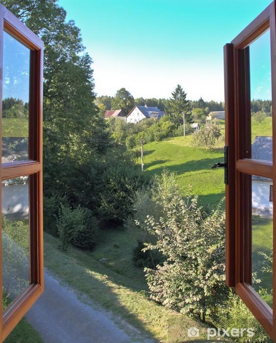 Fototapeta winylowa Otwarte okno - Krajobraz wiejski