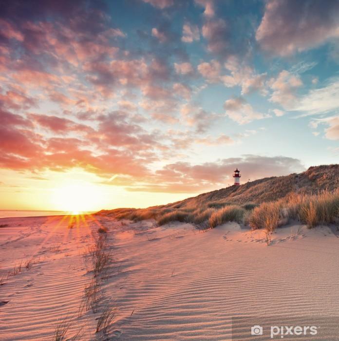 Pixerstick Sticker Strand und Dünenlandschaft ben Sylter Ellenbogen - Water