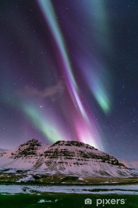 Vinyl Fotobehang Northern Light Aurora IJsland - Wonderen der Natuur