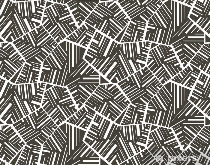 Vinyl Fotobehang Geometrisch abstracte naadloze patroon motief achtergrond. Kleurrijk - Achtergrond