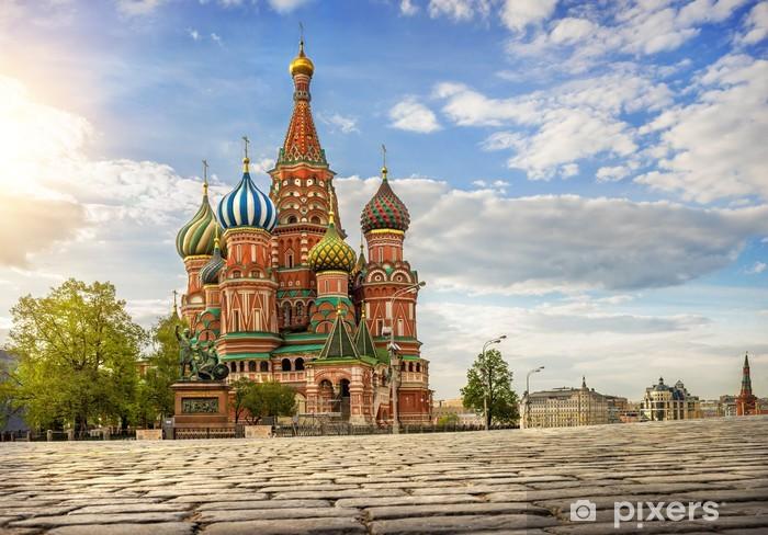 Fototapeta winylowa Собор на Красной Площади Katedra na R - Budynki użyteczności publicznej