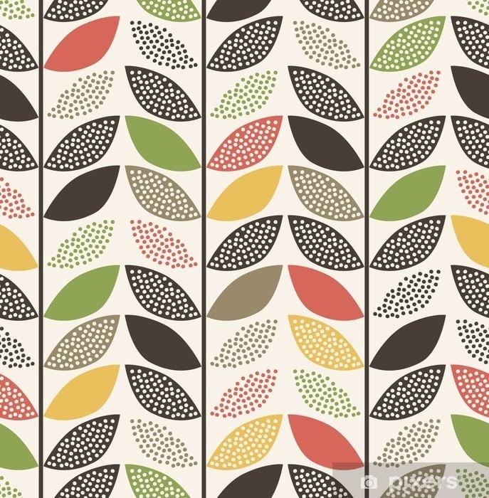 Naklejka Pixerstick Bezszwowe wzór liścia background__ - Zasoby graficzne