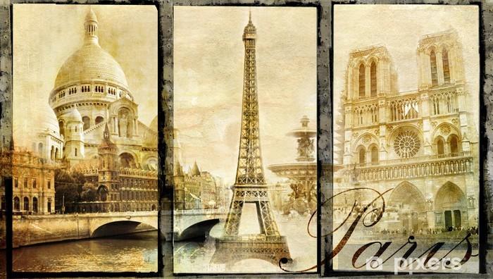 Vinyl Fotobehang Het oude Parijs - vintage collage - Stijlen