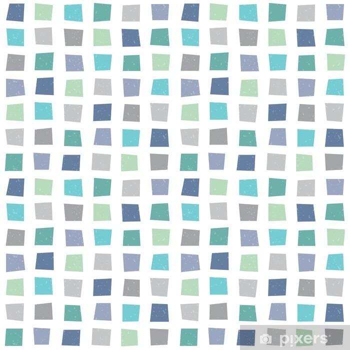 Poster Hippie sans soudure motif géométrique bleu aqua marine - Ressources graphiques