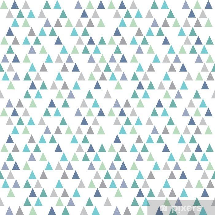 Mural de Parede em Vinil Seamless moderno padrão geométrico triângulos azuis do aqua - Recursos Gráficos