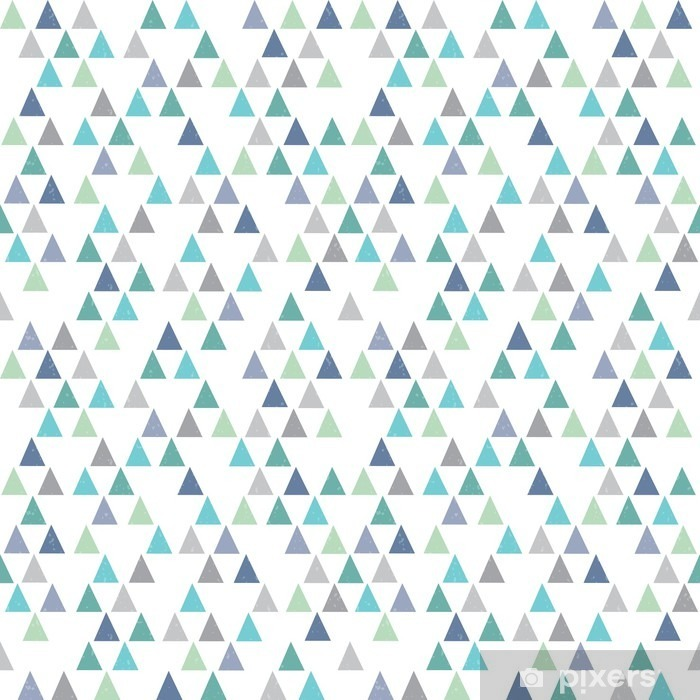 seamless hipster geometric pattern triangles aqua blue Vinyl Wall Mural - Graphic Resources